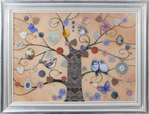 lace tree xl - framed