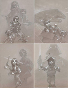 star wars sketch collection - mounted