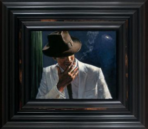man in white suit ii - framed