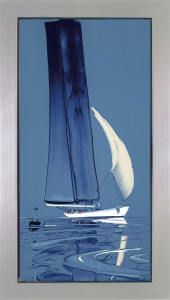 flying sails i - framed box canvas