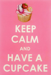 keep calm, have a cupcake - mounted