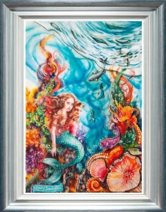 the little mermaid - framed