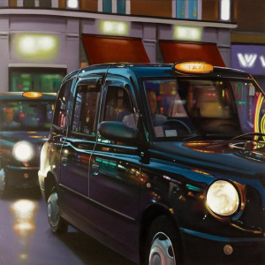 soho cab ride - box canvas