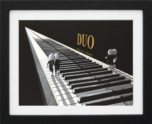duo - 3d high gloss  - framed