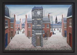 all around the clock tower - framed