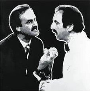 que? (fawlty towers) - mounted