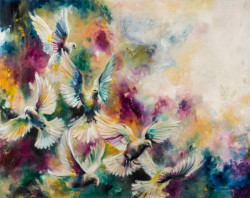 Virtue (Doves) - Canvas- Framed