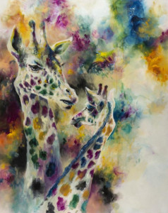 Gracile (Giraffes) - Canvas  - Framed