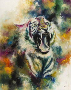 Bellicose (Royal Siberian Tiger)  - Canvas  - Framed