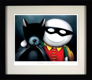 Catman And Robin  - Framed