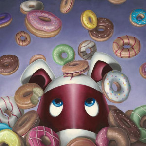 Donut Worry, Be Happy - Board With Slip