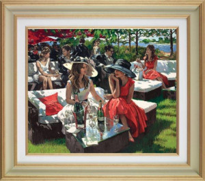 champagne bollinger afternoon (deluxe) - framed