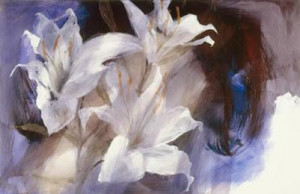 lillies (canvas) - unstretched canvas