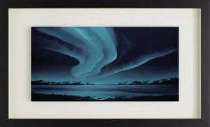 borealis blue - framed