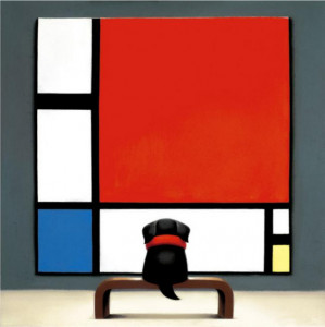 Contemplating Mondrian - Mounted