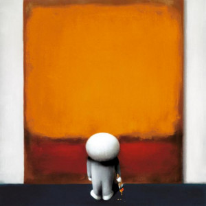 rothkos brushstroke of genius - mounted