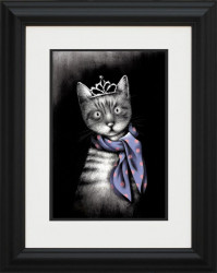 Miss Purrfect - Black Curved Framed