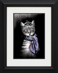 miss purrfect - framed