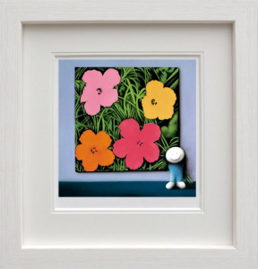 andys flowers  - framed