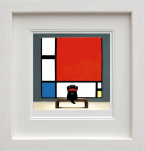 Contemplating Mondrian  - Framed