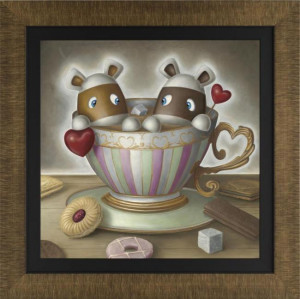 you're my cup of tea  - framed
