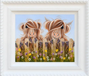 highland moo - framed
