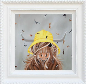 raining cats & dogs - framed