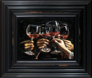 brindis con rose - framed