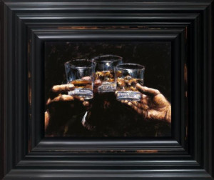 study for whiskey - framed