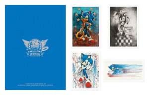 robert oxley - sonic the hedgehog - 25th anniversary portfolio - print only
