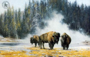 The Hot Springs Of Yellowstone - Print only