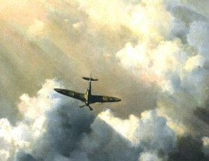immortal hero - spitfire - print only