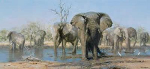 Happy Time - Elephants - Print only