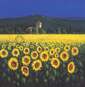 Tuscan Sunflowers - Small - Mounted