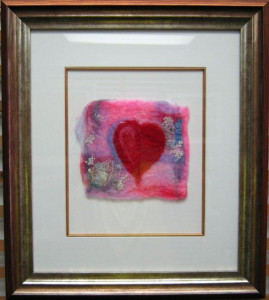 heartfelt ii (felt art) - framed