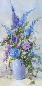 Summer Blooms (Blue) - Mounted