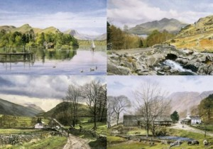 ingham's england -  the lakes portfolio (set of 4) - mounted