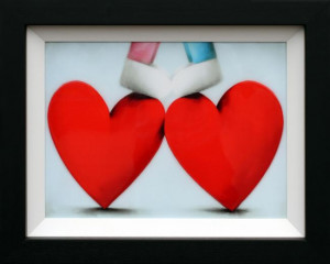 Two Hearts Are Better Than One - Framed