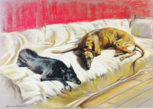 Father & Son (Lurchers) - Print