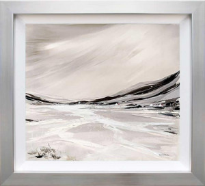 sparkling shores (on aluminium) - framed