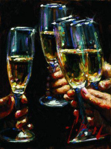 brindis con champagne - board only
