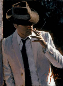 marcus with hat and cigarette - board only