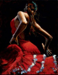 Dancer In Red With White