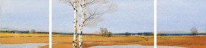 Across The Land (Triptych) - Mounted
