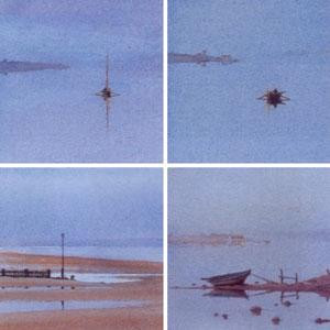 Sea Scene Images (Set of 4) - Mounted