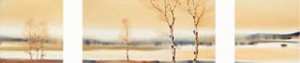 autumn afternoon (triptych) - mounted
