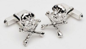 bad to the bone - sterling silver cufflinks