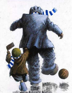 come on you blues - mounted
