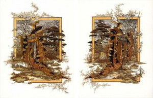 Beyond The Wood & On The Edge (Pair) - Mounted