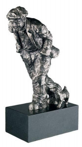 one man & his dog (stainless steel)